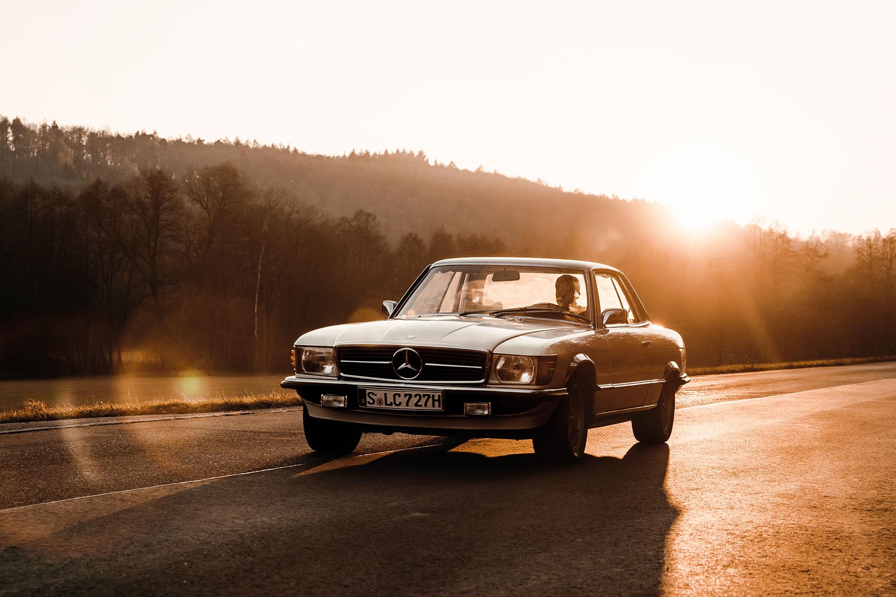 Automotive-Mercedes-SLC-oldtimer-Photographer