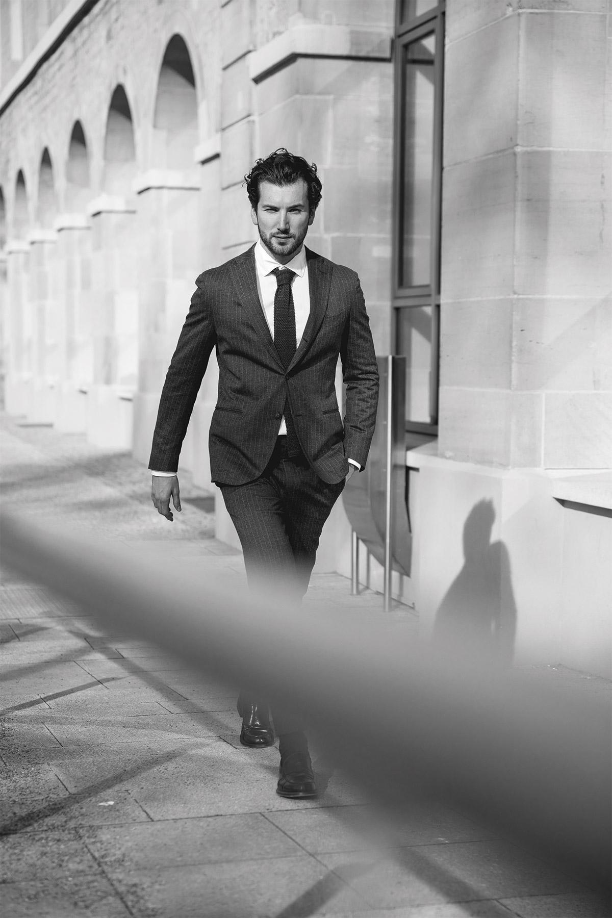 Anzug Mann Lifestyle Fotografie Portrait Model